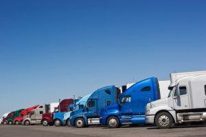 multiple cargo trucks