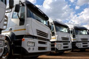 Cargo Trucks Parked